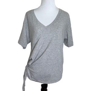 CURRENT/ELLIOT The Wrap Tee Gray Grey Size 1